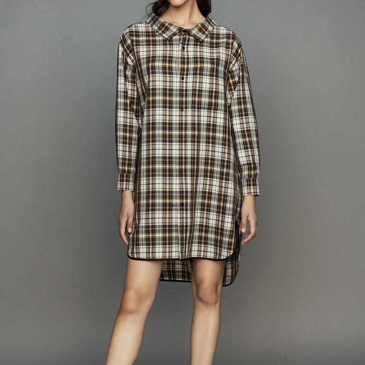 Hemd-Kleid mit Karos : Kleider farbe CARREAUX