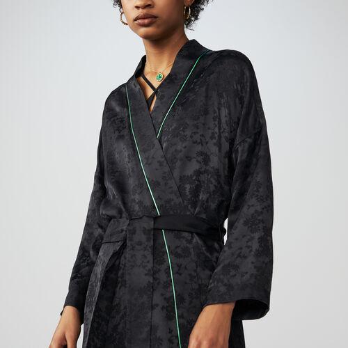 Kimono long jacket : Blazers farbe Schwarz