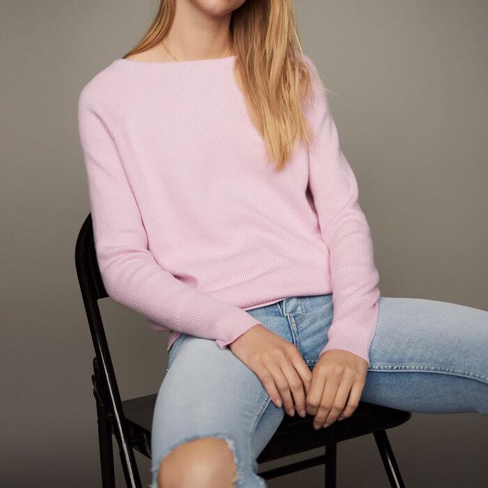 Pullover mit Rückenausschnitt : Strickwaren farbe LILA
