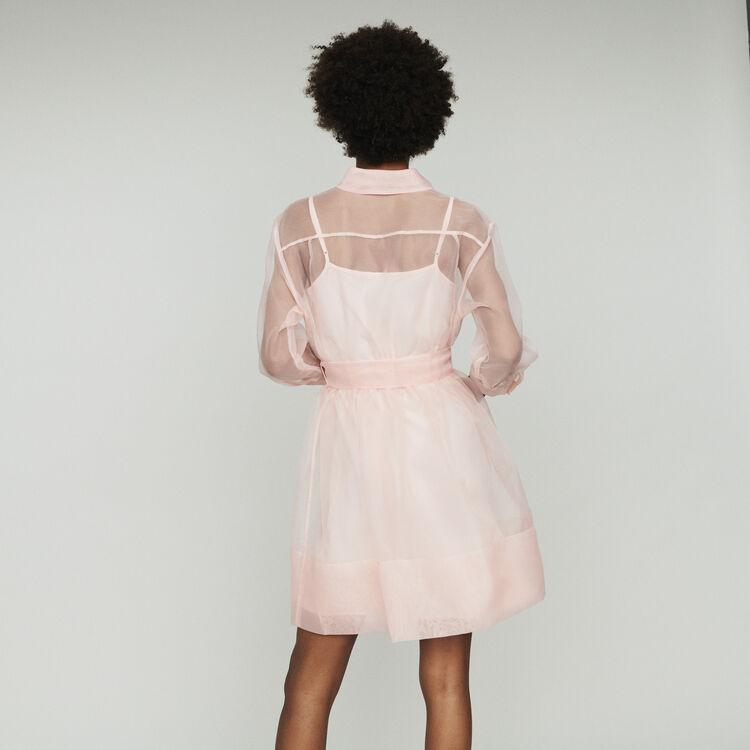 Organza-Hemd-Kleid : Kleider farbe Hellrosa