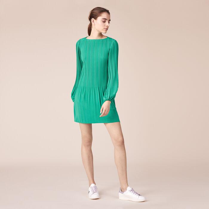 Blusenkleid aus plissiertem Krepp -  - MAJE