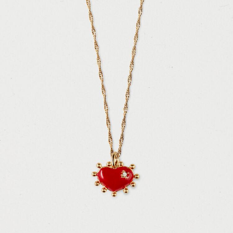 Collier mit Herz : Schmuck farbe OR