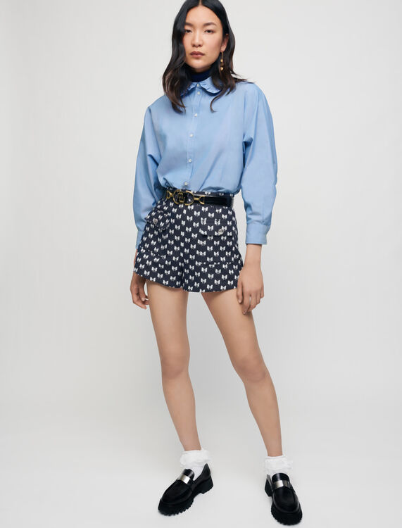 Jacquard-Shorts mit Schleifen - Röcke & Shorts - MAJE