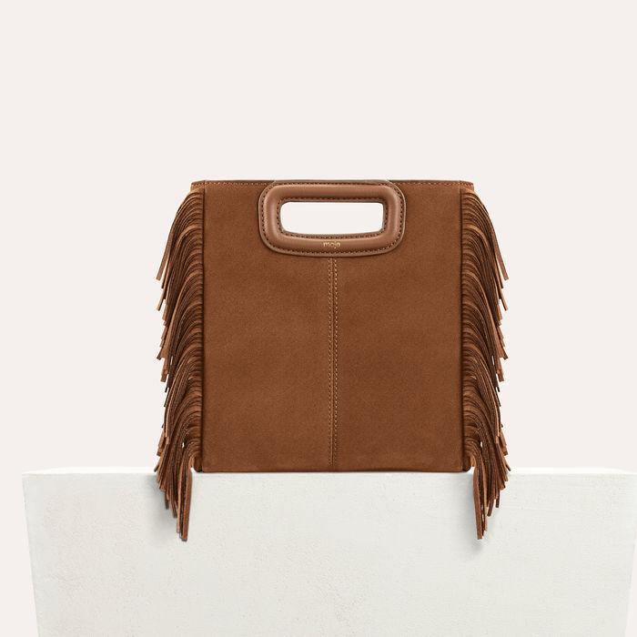 M Tasche aus Veloursleder : M Tasche farbe Camel