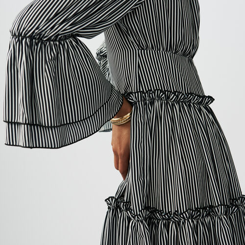 Stripes printed dress : Kleider farbe Gestreift