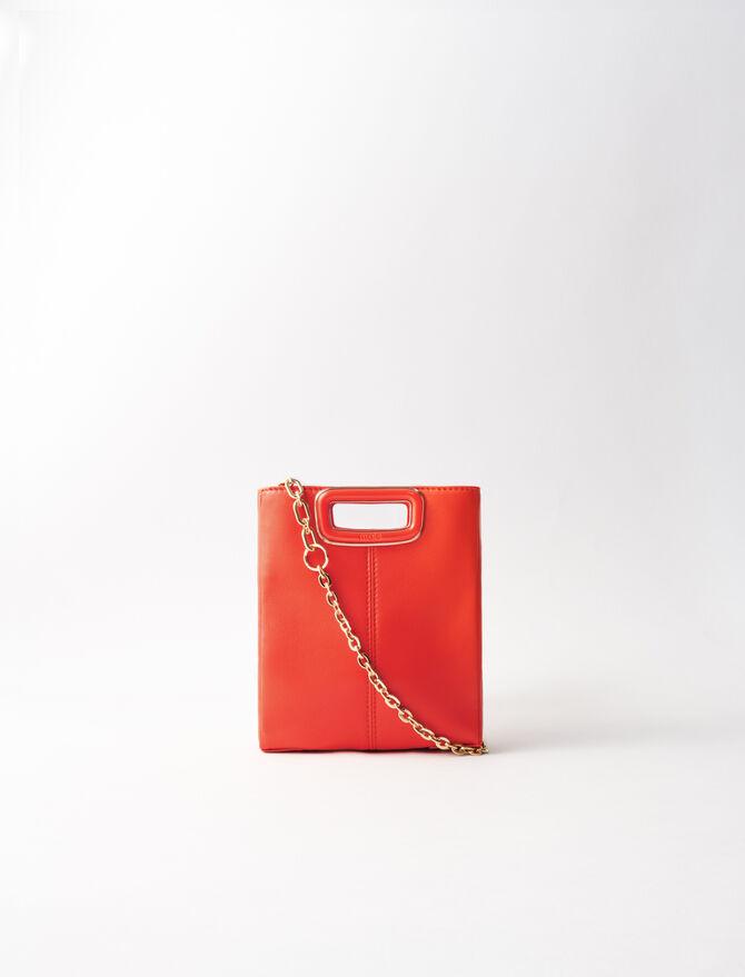 M Mini-Tasche aus Leder - M Skin - MAJE