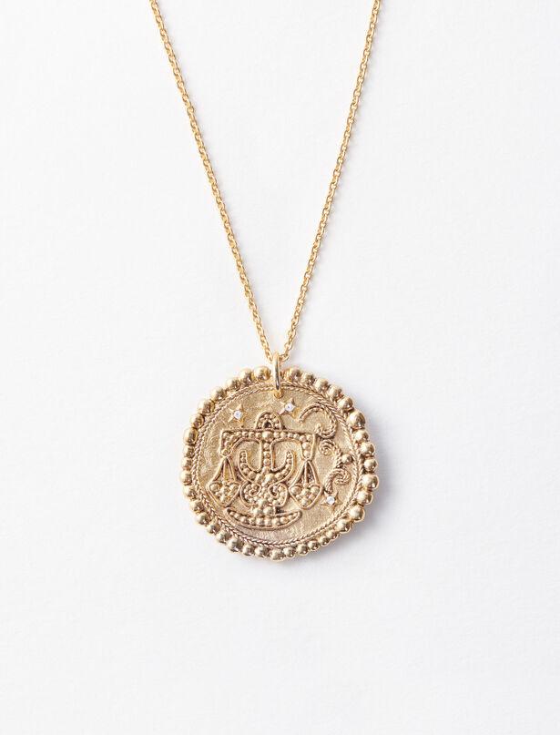 마쥬 MAJE Sternzeichen Waage Halskette,Antik Messing