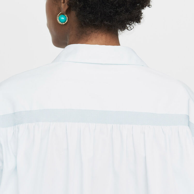 Oversize-Hemd mit Grosgrain : Neue Kollektion farbe Himmelblau