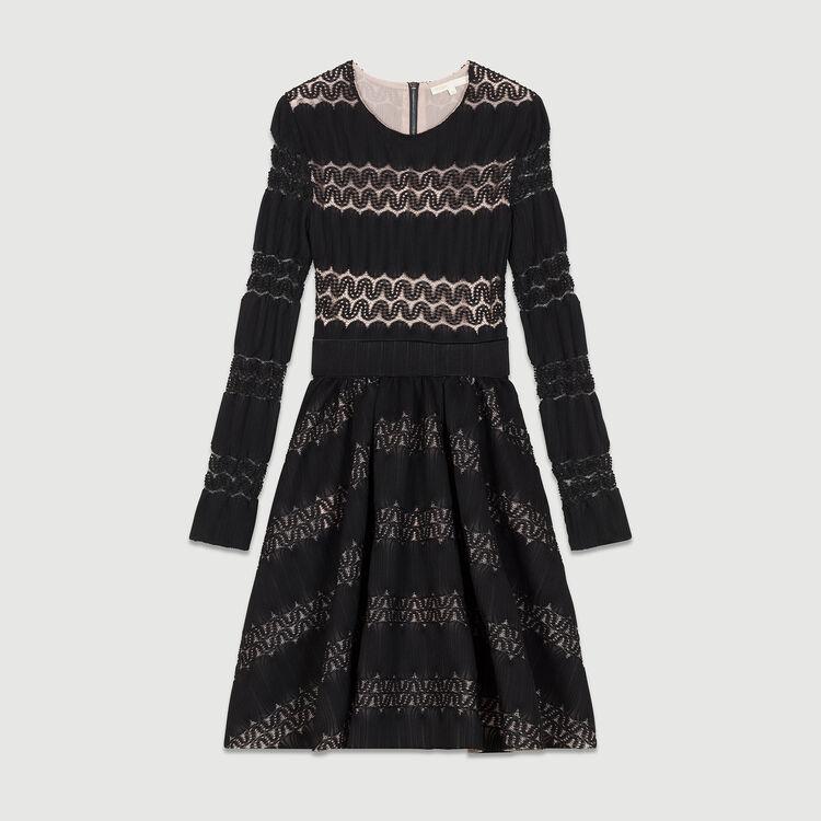 Basket knitted dress : Kleider farbe SCHWARZ