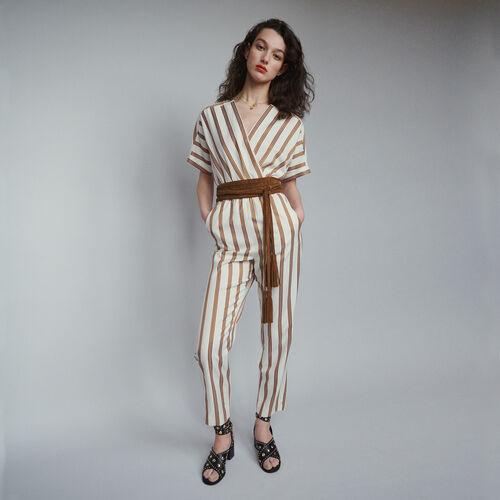 Jumpsuit mit Streifen : Hosen & Jeans farbe Gestreift