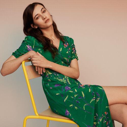 Langes Midi Kepp-Kleid : Kleider farbe IMPRIME