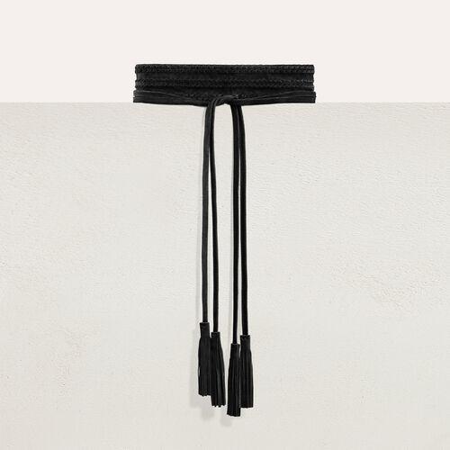 Taillengürtel aus Wildleder : Gürtel farbe Schwarz