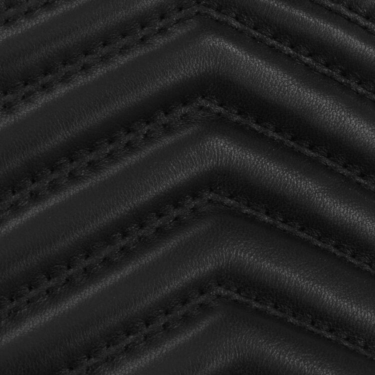Gürteltasche aus Leder mit Steppdetails : Andere M farbe Schwarz