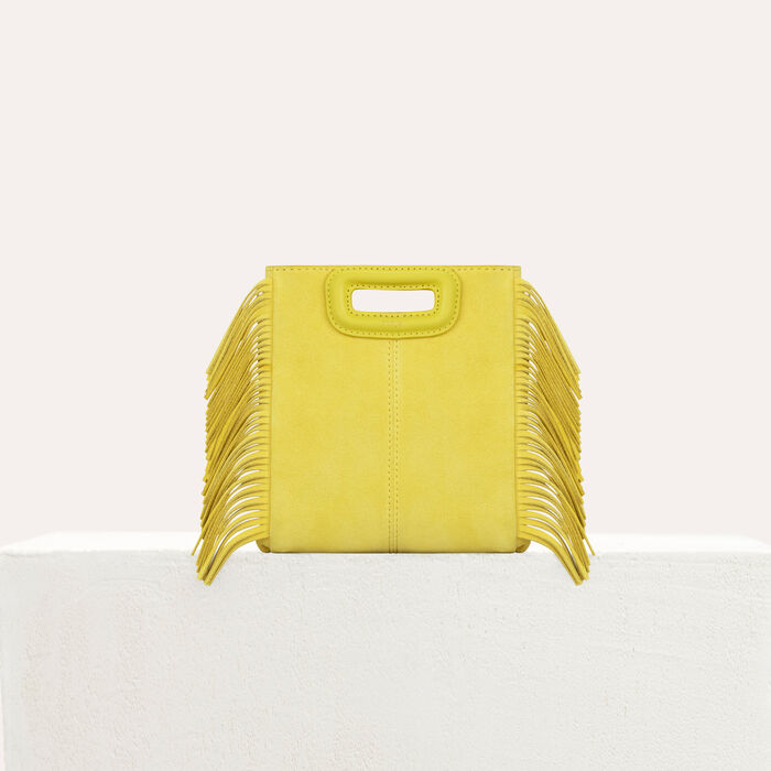 M Mini Tasche aus Veloursleder mit Kette : M Mini farbe Gelb