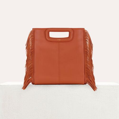 M-ledertasche mit fransen : M Tasche farbe Terracotta