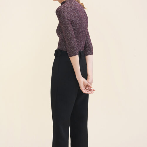 Körperbetonter Pullover aus Lurex-Strick - Strickwaren - MAJE
