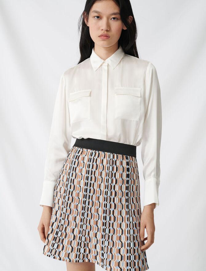 Bluse aus Satin und Seide - Tops & Hemden - MAJE