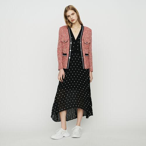 Tweedjacke mit kontrastierenden Details : Blazers farbe Rot