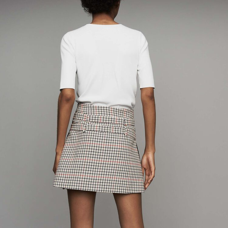 Karierter Trompe-l'oeil-Short : Office girl farbe CARREAUX