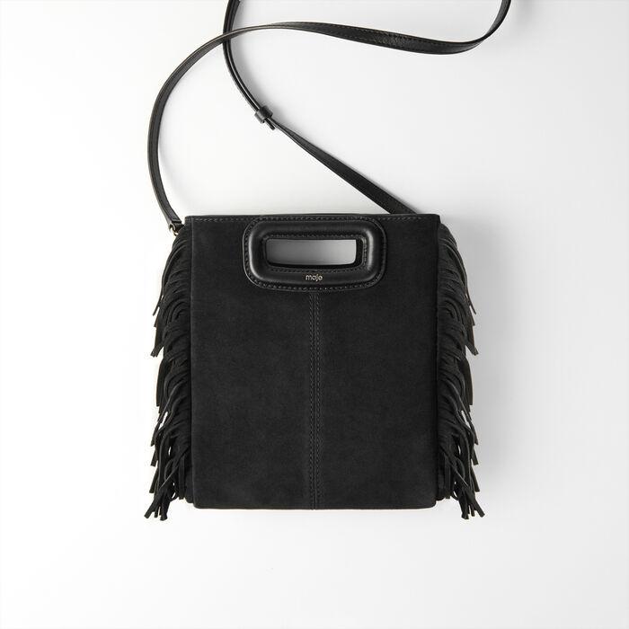 M Tasche aus Veloursleder : Nouveautés Sacs farbe Schwarz