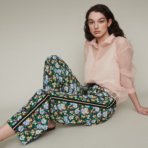 Jogginghose mit Blumen Print : Hosen & Jeans farbe Print
