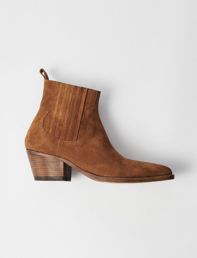Suede Cowboy Boots - Alle Schuhe - MAJE