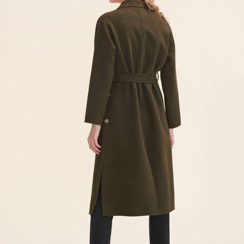 Langer zweiseitiger Mantel : Manteaux farbe Khaki