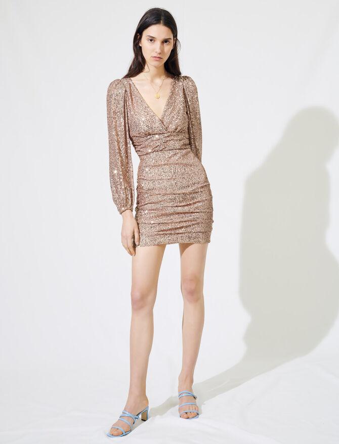 Minikleid mit Pailletten - Kleider - MAJE