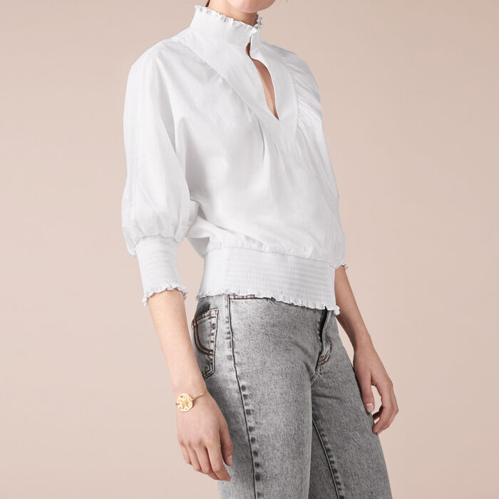 Bluse aus Baumwollpopeline -  - MAJE