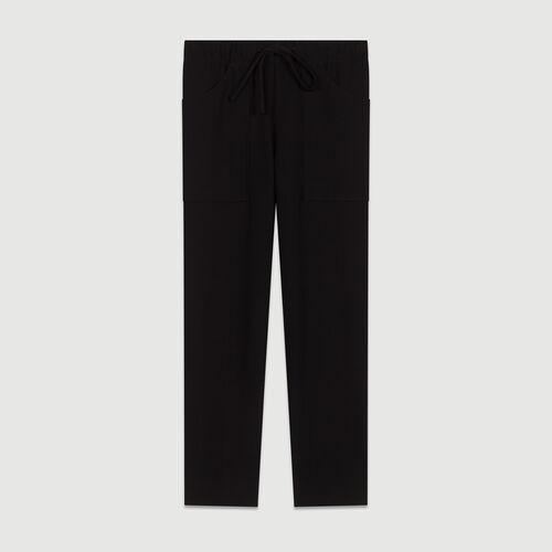 Straight cut trousers : Hosen farbe Marineblau