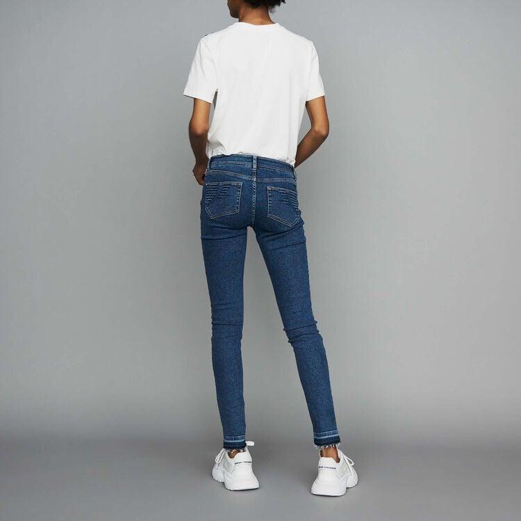Skinny Jeans aus denim : Jeans farbe Denim