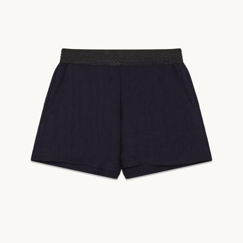 Kurze Shorts aus Ottoman-Gewebe - null - MAJE