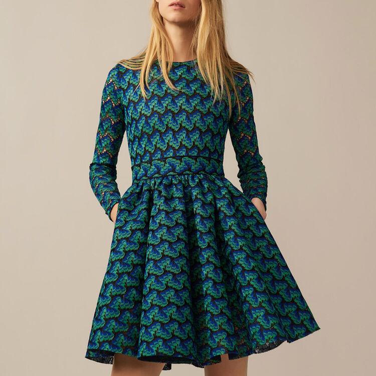 Kleid aus verklebter Spitze : Robes farbe Mehrfarbigen