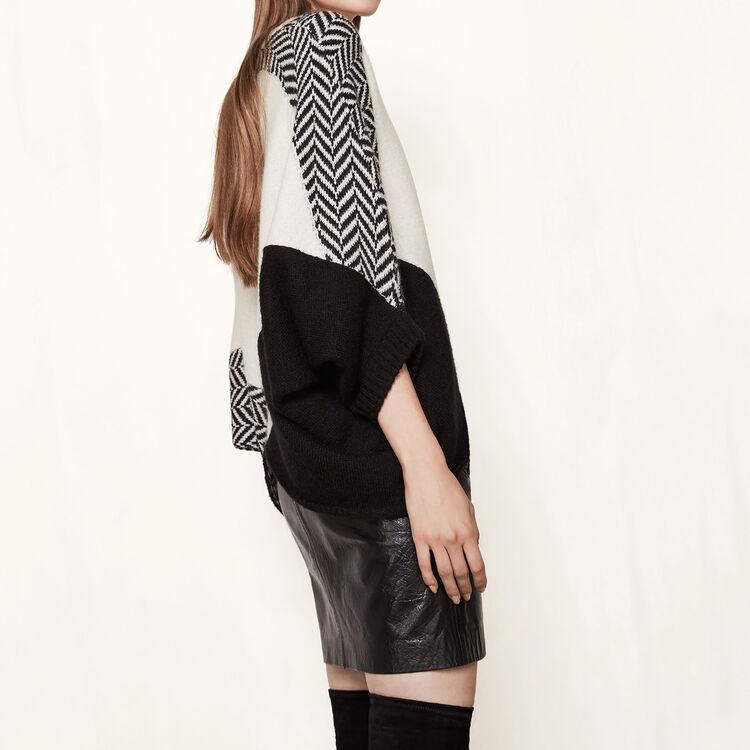 Pullover im Poncho-Stil aus Strick : Pullover und Cardigans farbe Zweifarbig