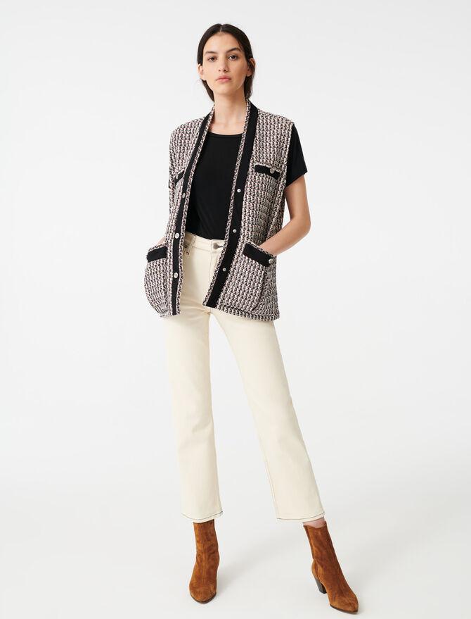 Weste im Tweed-Stil mit Lurex - Blazers - MAJE