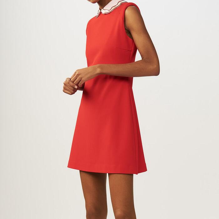 RANGAT Lace pleated dress - Kleider - Maje.com