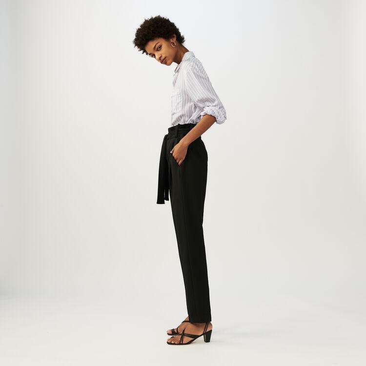 Karottenhose mit Gürtel : Office girl farbe Schwarz