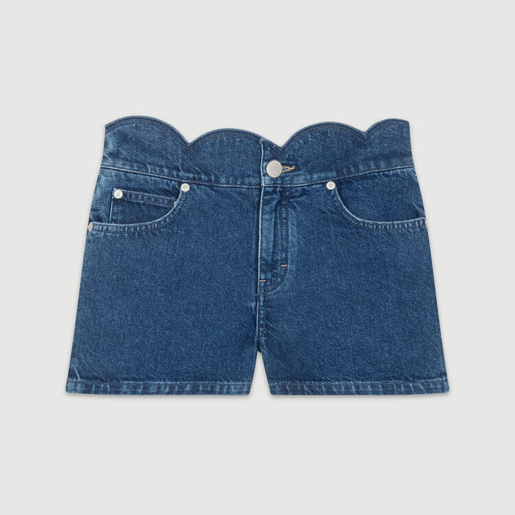 Jeans-Short mit edlen Schnitten : Röcke & Shorts farbe Denim