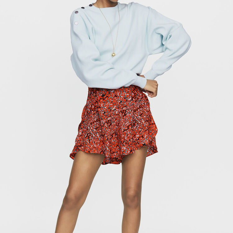 Short met print en volants : Röcke & Shorts farbe IMPRIME