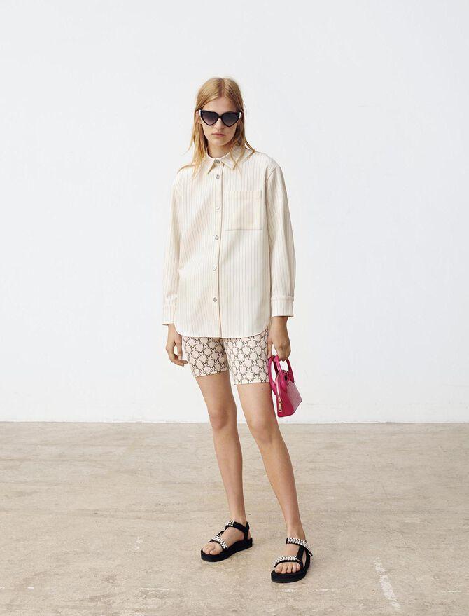 Oversize-Hemdbluse mit Streifen - Tops & Hemden - MAJE