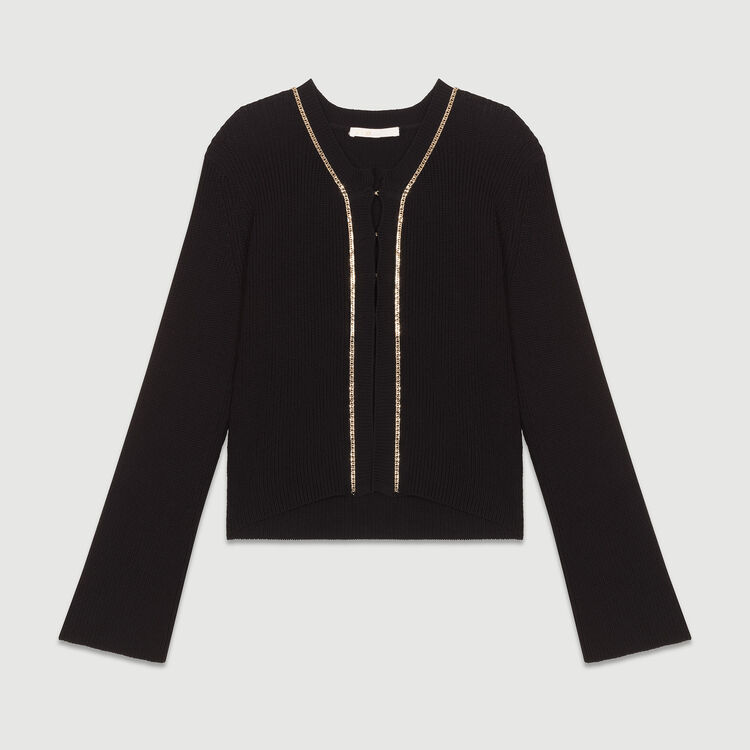 Long sleeves cardigan : Strickwaren farbe Schwarz