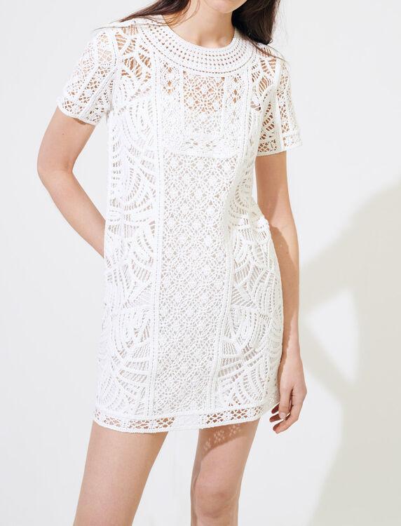 Gerades Kleid im Makramee-Stil - Kleider - MAJE