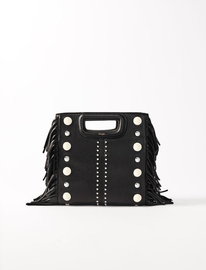 M-Tasche aus Leder mit Nieten - M Tasche - MAJE