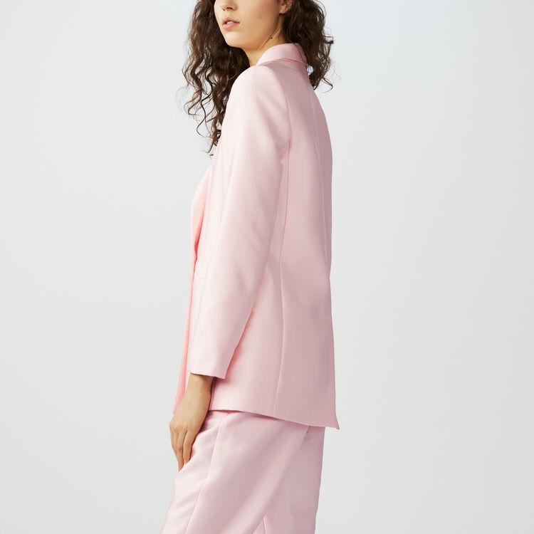 Blazer aus seidigem Stoff : Blazers farbe Rosa