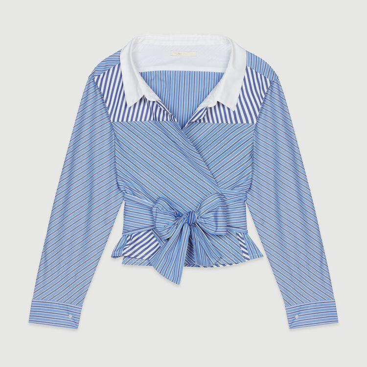 Kurzes Top mit Wickel-Effekt : Tops & Hemden farbe Gestreift