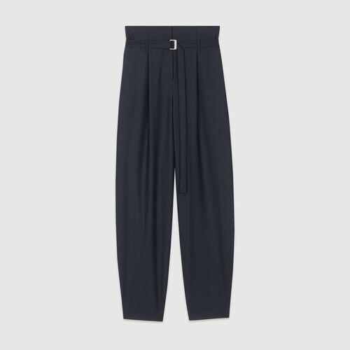 Weite Hose mit engem Bein : Hosen & Jeans farbe Marineblau