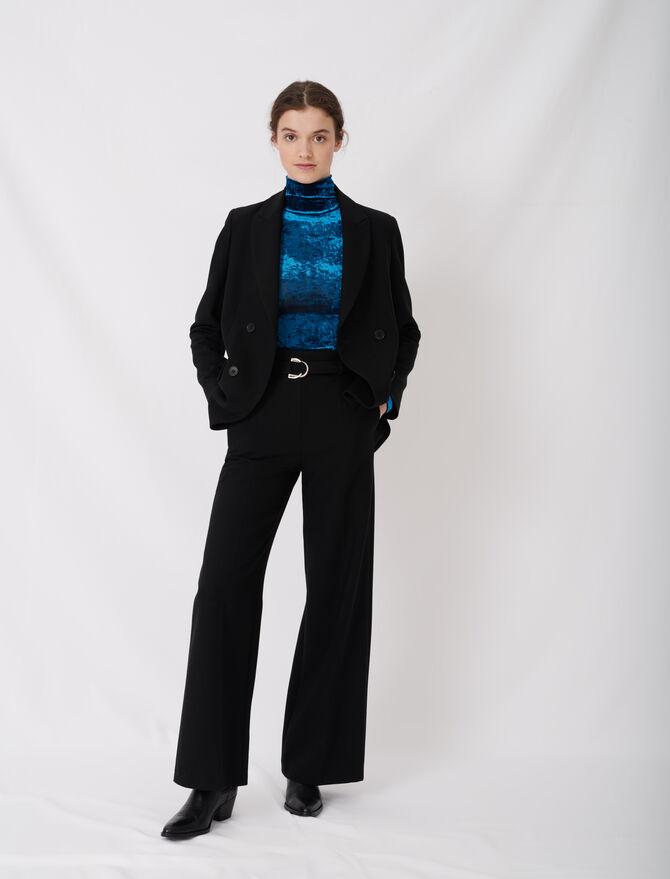 Pantalon large avec ceinture - Hosen & Jeans - MAJE