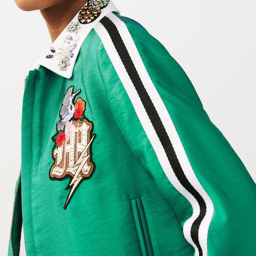 Kurze Jacke mit Schmuckkragen : Jacken farbe Grün