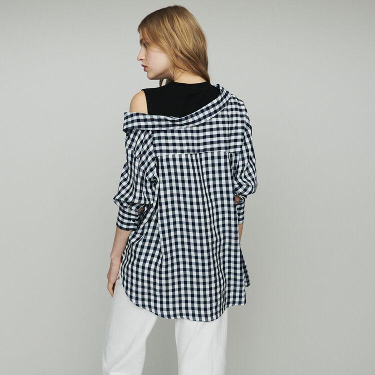 Trompe-l'oeil-Bluse aus Vichy : Tops & Hemden farbe CARREAUX
