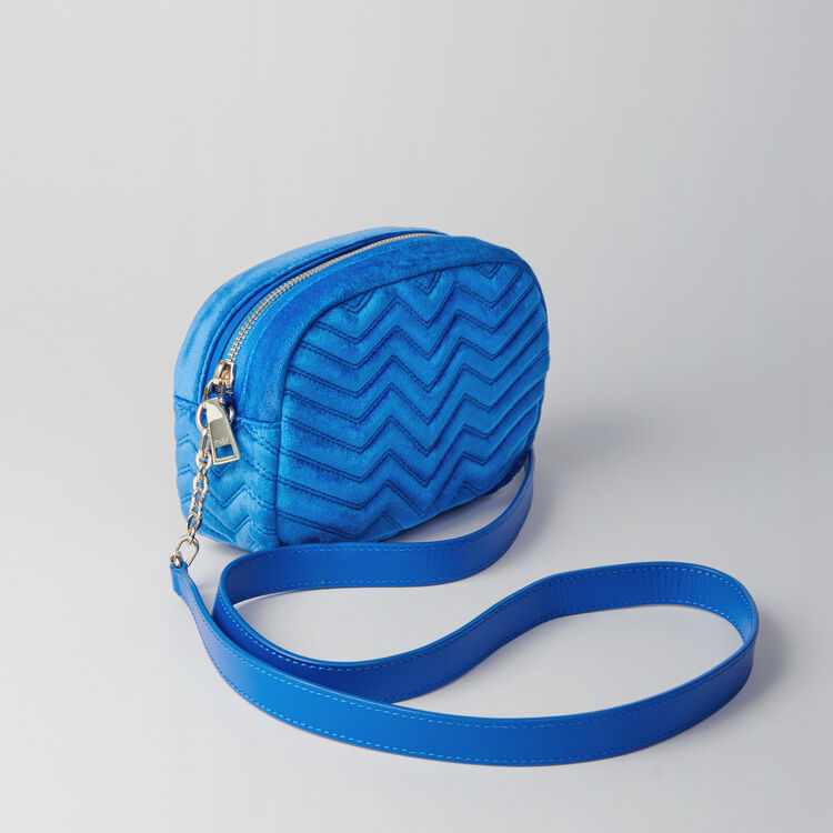 Umhängetasche aus Velour : Sami bag farbe Blau